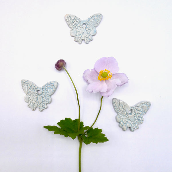 Handcrafted artisan hanging ceramic butterfly