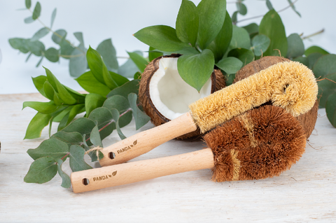 Coconut fibre dish brushes - set of 2