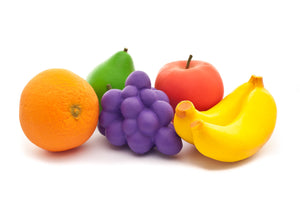 Fruit Play Rubber Food Set