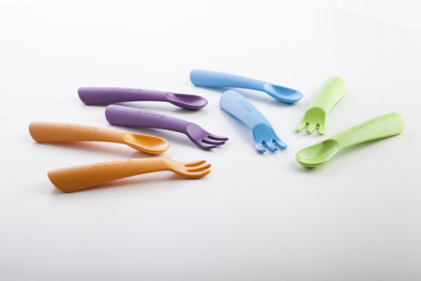 Biodegradable Bioplastic Cutlery Set - choice of colours