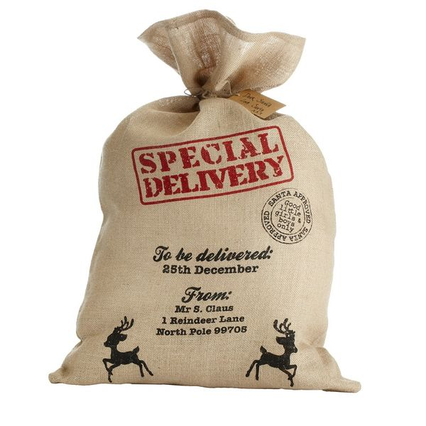 Hessian Christmas Santa Sack