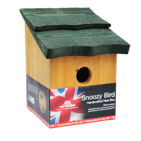 wooden bird box plastic free