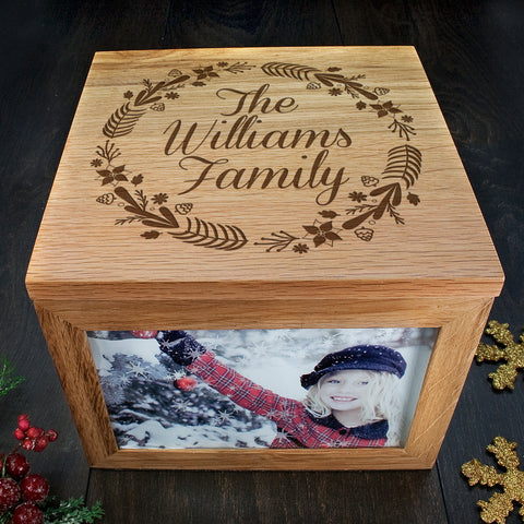 family memory photo box christmas