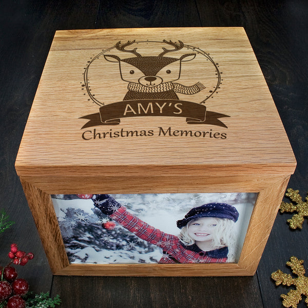 personalised wooden box for memories engraved
