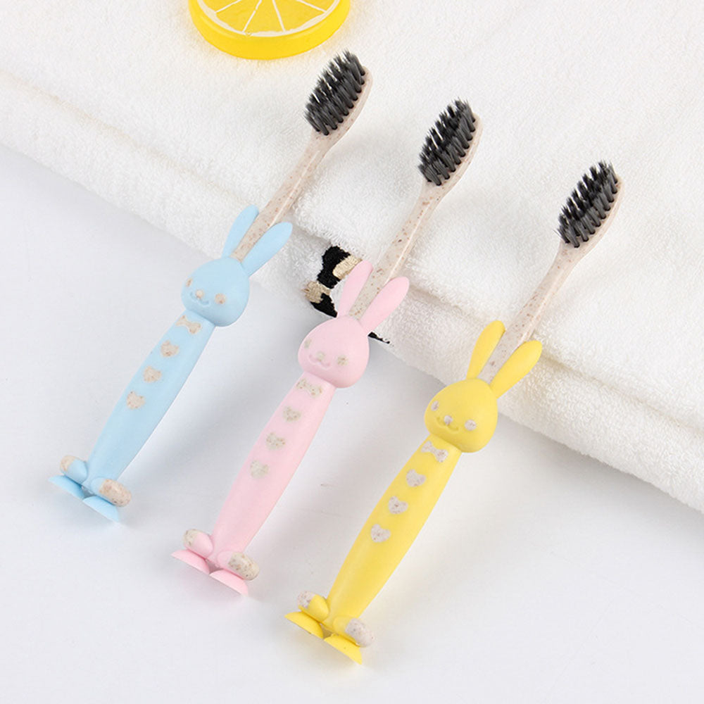 Wheat Straw Biodegradable Kids Soft-bristled Toothbrush