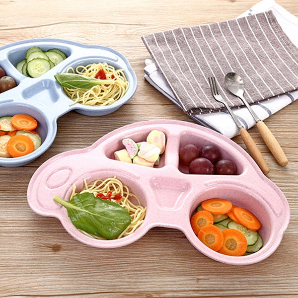 Wheat Straw Car Baby Dinnerware Plate