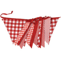 cotton bunting reusable party red and white