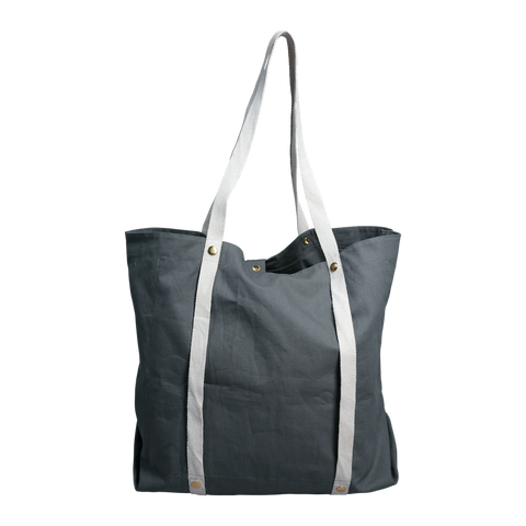 plastic free tote bag blue
