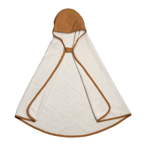a hooded baby towel organic cotton