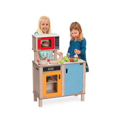 Wooden Little Chef Station - Kitchen stove, oven & washing up