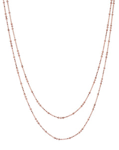 Facet Necklace long, Rosegold