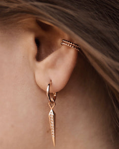 Bar Hoops, Rosegold