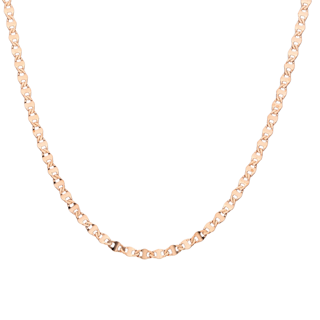 Link Chain Necklace, Rosegold