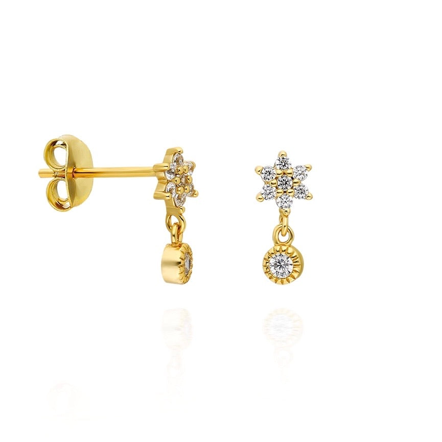 Flower Solitaire Earstuds