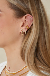 Three Diamond Earstuds