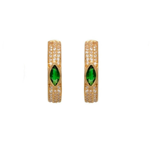 Emerald Pavé Hoops