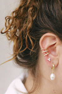 Triangle Flower Earstuds