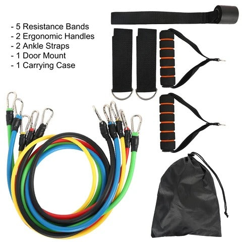 Upsell  11 Piece Adjustable Resistance Band Set