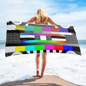 tv test pattern beach towel