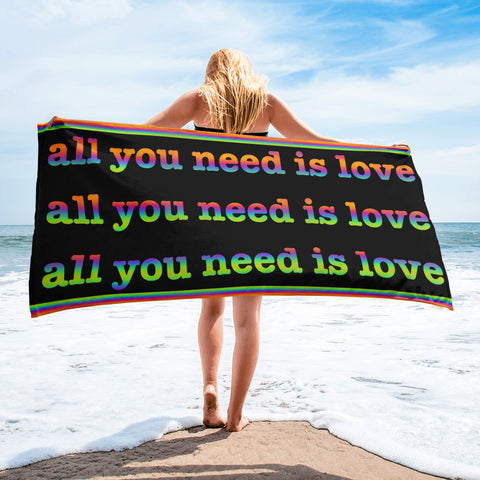 all you need is love towel