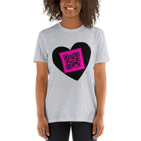 black heart freedom Short-Sleeve Unisex T-Shirt