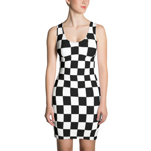 chess black & white Dress