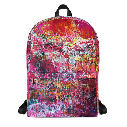 Luis Trapaga's art backpack