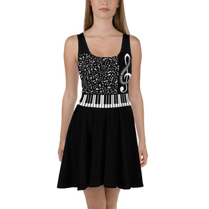Music piano player Dress