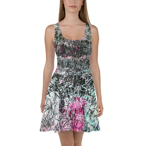 Luis Trapaga's urban graffiti Skater Dress