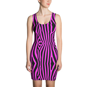zebra pink & black Dress