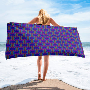 colorful psychedelic Towel