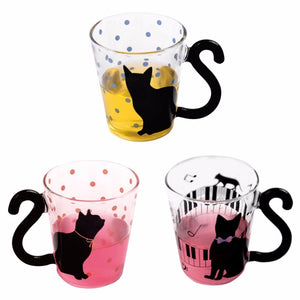 Kitty Glass Mug Cup Tea
