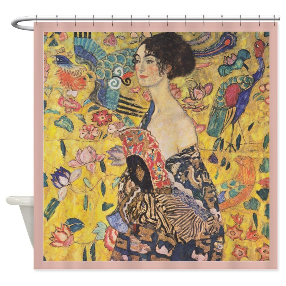 Gustav Klimt Decorative Fabric Shower Curtain 12 Hooks