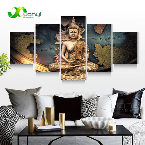 Wall Painting Buddha Print On Canvas