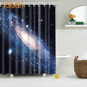 Starry Sky Galaxy Shower Curtain