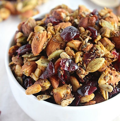 Pumpkin and Cranberry {Grain Free} Granola