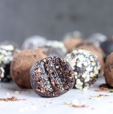 Dark Chocolate Walnut Truffles