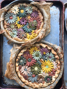All Natural Flower Pies