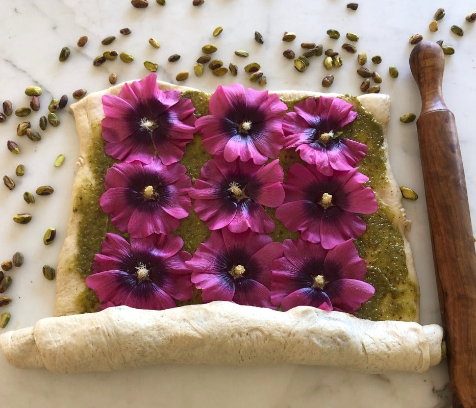 *Limited Time Only* Hollyhock Pistachio Frangipane Buns