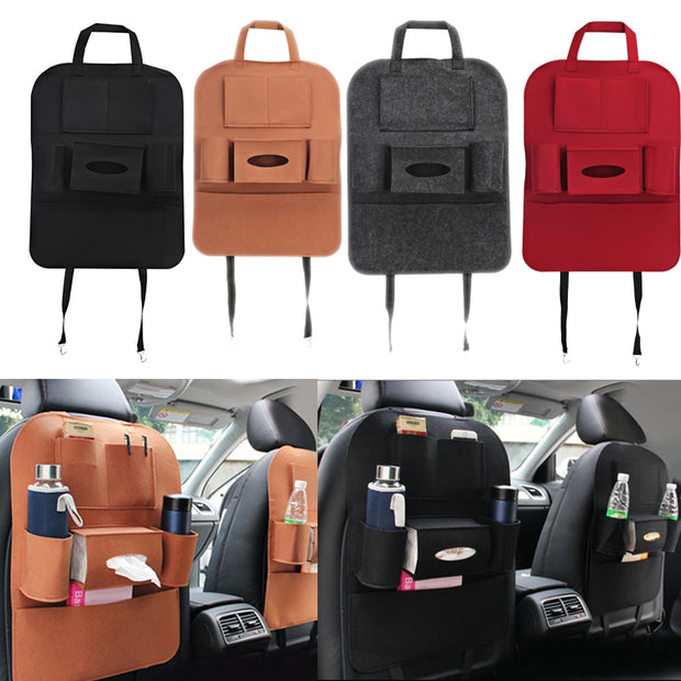 Auto Car Seat Bag Organizer Multi Pocket Storage Bag Car Seat Cover Seat Back Box Organizer Holder For Phone Book Car Styling
