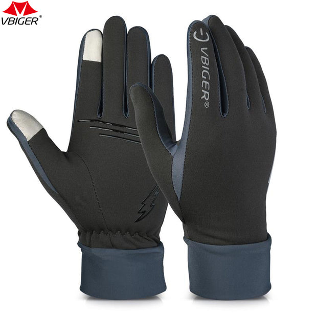 Vbiger Outdoor Running Hiking Gloves Tounch Screen Wear-resistant Anti-skid Gloves Cycling Sports Gloves Mittens for Men Women
