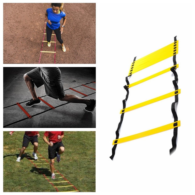 Outdoor Fitness Equipment 10 Feet 3M Agility Agile Training 6 sections Ladder for Soccer Football Feet coordination Training
