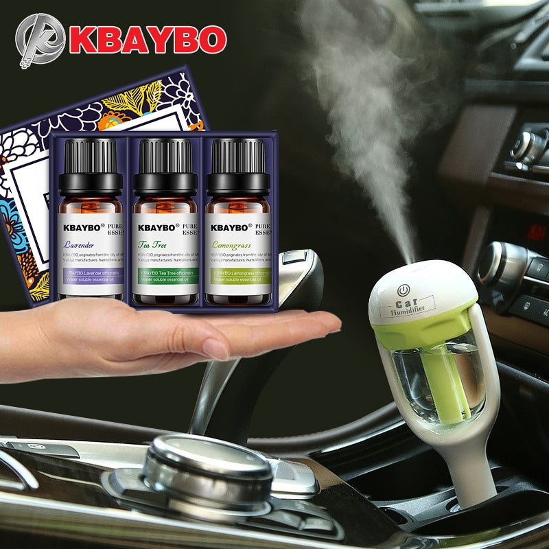 KBAYBO Mini Car Aroma essential oil Diffuser Humidifier Aromatherapy Portable Car Air Humidifier cool mist Purifier in car