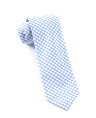 The Tie Bar Sky Novel Gingham Necktie