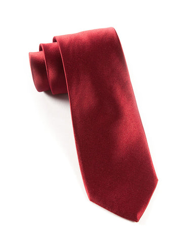 The Tie Bar Burgundy Solid Necktie