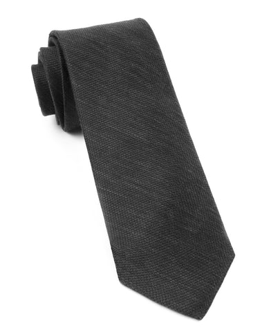 The Tie Bar Black Festival Textured Solid Necktie