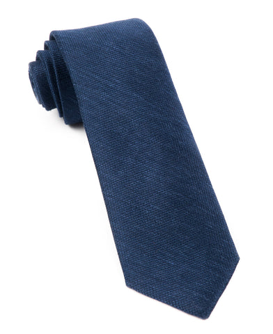 The Tie Bar Navy Festival Textured Solid Necktie