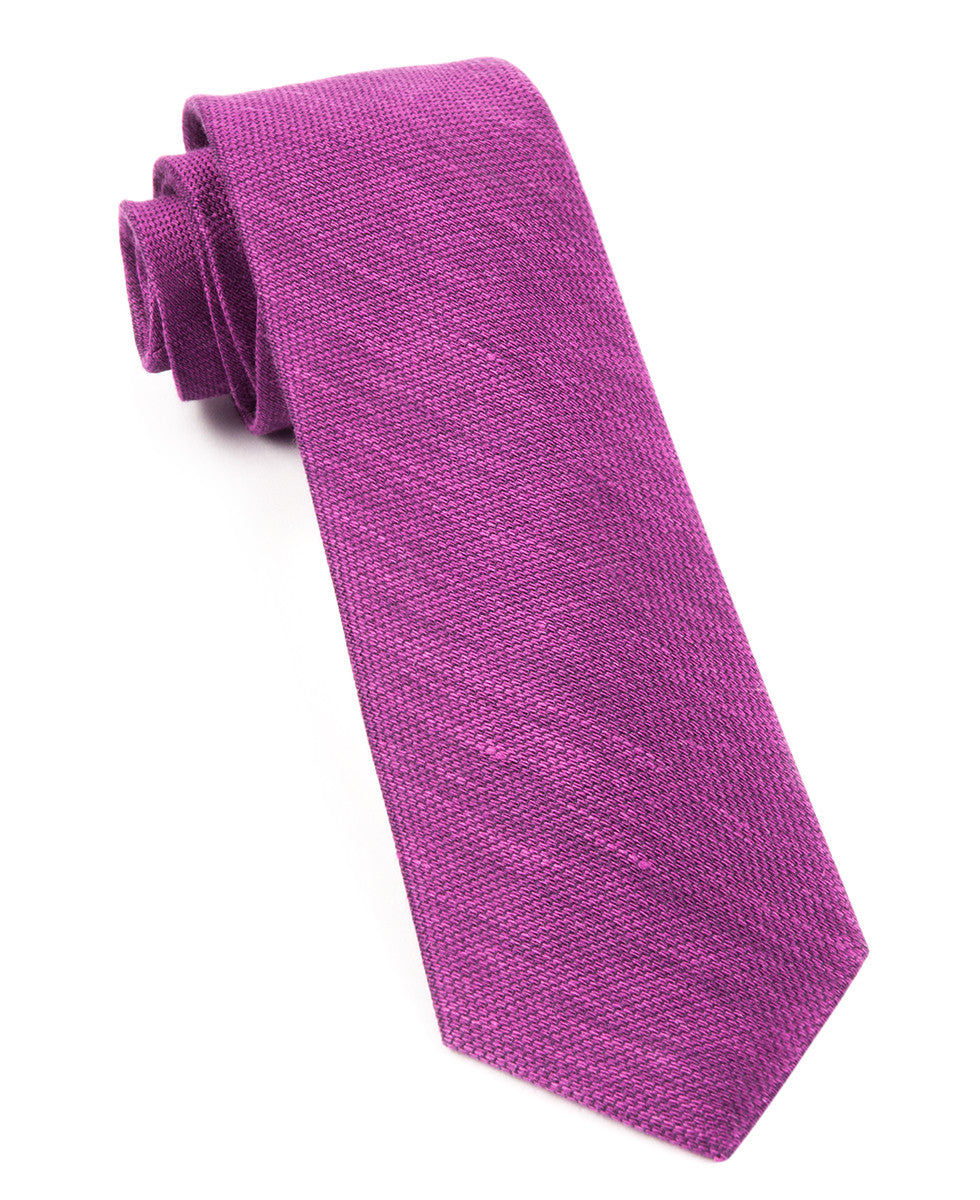 The Tie Bar Azalea Festival Textured Solid Necktie