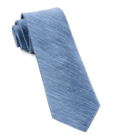 The Tie Bar Slate Blue Festival Textured Solid Necktie