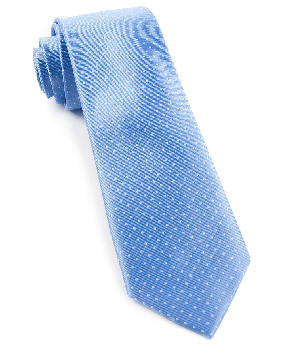 The Tie Bar Light Blue Mini Dots Necktie